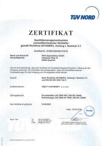 Zertifikat 2014_68_EU_KKS