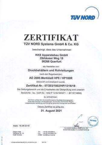 Zertifikat AD 2000_KKS