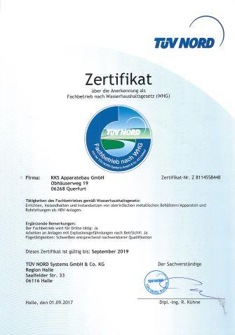 Zertifikat WHG_KKS